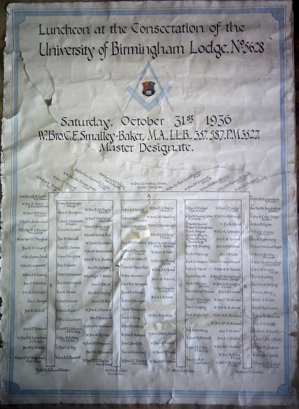 Table Plan 1936
